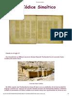 El Códice Sinaítico