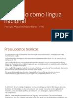 O Catalão Como Língua Nacional