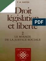 Droit, législation et liberté. Volume II꞉ le mirage de la justicie social. Friedrich Hayek.