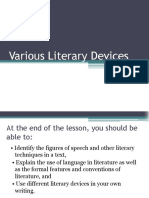 Various Literary Devices