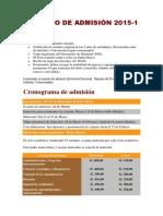 Proceso de Admisión 2015