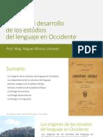 El Desarrollo de Los Estudios Del Lenguaje en Occidente
