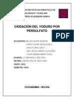 Oxidación del yoduro por persulfato