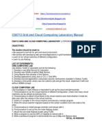 CS6712 Grid and Cloud Computing Laborato