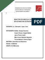 Practica 7 Funcionamiento de Reactor Mezcla Completa en E. No E.