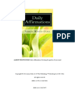 AARON WAYNE DUKE Daily Affirmations Growing the Garden of Your Mind.doc
