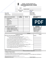 Disembarkation Form