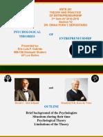 Psychological Theories of Entrepreneurship