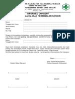 Surat Permintaan Pulang Atas Permintaan Sendiri