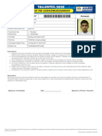 Allen Talentx Admit Card Anish 7