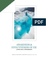 ESIC - AWARENESS & EFFECTIVENESS