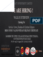 Walkin Interview Advert
