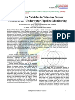 Under Water Vehicles in Wireless Sensor Networks for Underwater Pipeline Monitoring