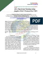 Collaborative Spectrum Sensing Using Cognitive Adaptive MAC Protocol for CRN