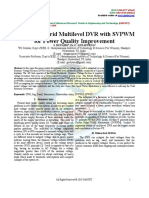 PV Based Hybrid Multilevel DVR With SVPWM for Power Quality Improvement