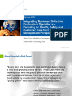 Integrating Business Skills into Ecotourism Operations – Focusing on Health, Safety and Customer Care from Risk Management Perspectives