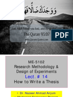 LECT 14 Writing a Thesis