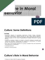 2. Culture in Moral Behavior