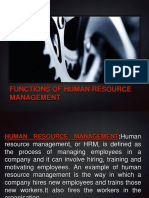 functions of HRM by SATHYA BHUPATHI