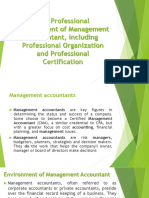 The Professional Environment -
