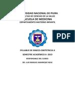 Syllabus Gineco II-2019