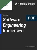 Flatiron SoftwareEngineeringImmersive Syllabus