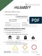 15 - Lab Safety - PowerPoint Worksheet