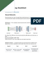 Deep Learning Cheatsheet