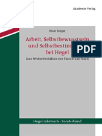 (Hegel-Jahrbuch Sonderband 1) Maxi Berger-Arbeit, Selbstbewusstsein Und Selbstbestimmung Bei Hegel_ Zum Wechselverhältnis Von Theorie Und Praxis-Walter de Gruyter (2012)