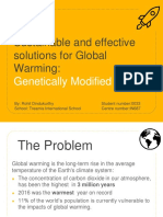 Sustainable and Effective Solutions for Global Warming