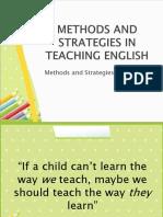Methods and Strategies in Teaching English