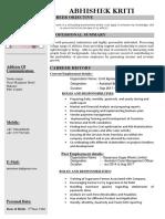Abhishek Resume