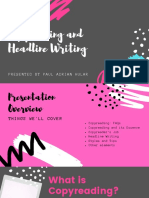 Copyreading and Headline Writing (1)