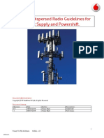 Vodafone Dispersed Radio Guidelines for Direct Supply and Powershift