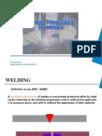 Welding Processes and Technique