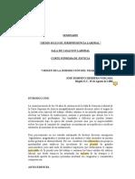 ANTECEDENTES DE LA JURISDICCIÓN LABORAL- JOSE ROBERTO HERRERA