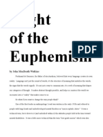 Flight of the Euphemism