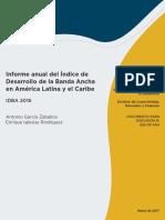 Informe Anual Del Indice de Desarrollo de La Banda Ancha en America Latina y El Caribe IDBA 2016