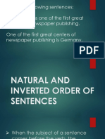 Natural and Inverted Order of Sentences