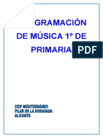 Programación Música 1º