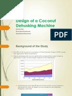 Design of a Coconut Dehusking Machine