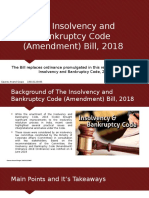 The Insolvency and Bankruptcy Code (Amendment) Bill, 2018