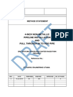 Method Statement - Non-Metallic Pipeline Instalation & Pull Through to HDD