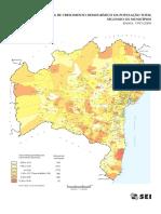 Taxa de Crescimento Demográfico da Bahia