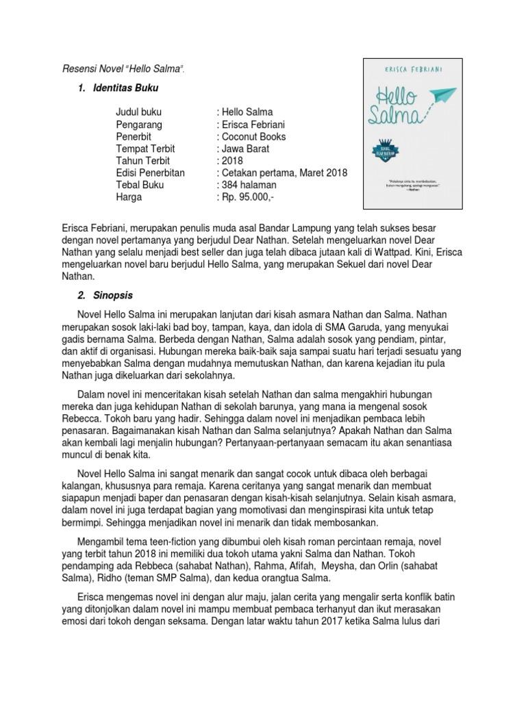Resensi Novel Nathan Dan Laura Goresan