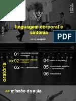 Linguagem Corporal e Sintonia - Slides Alunos