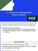1.7 Check Point Management Software Blades
