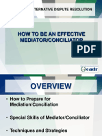 Effective Mediator or Conciliator