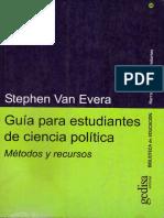 Van Evera Stephen - Guia Para Estudiantes de Ciencia Politica