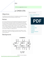CMOS OTA (Output Transconductance Amplifier) [Analog Devices Wiki]
